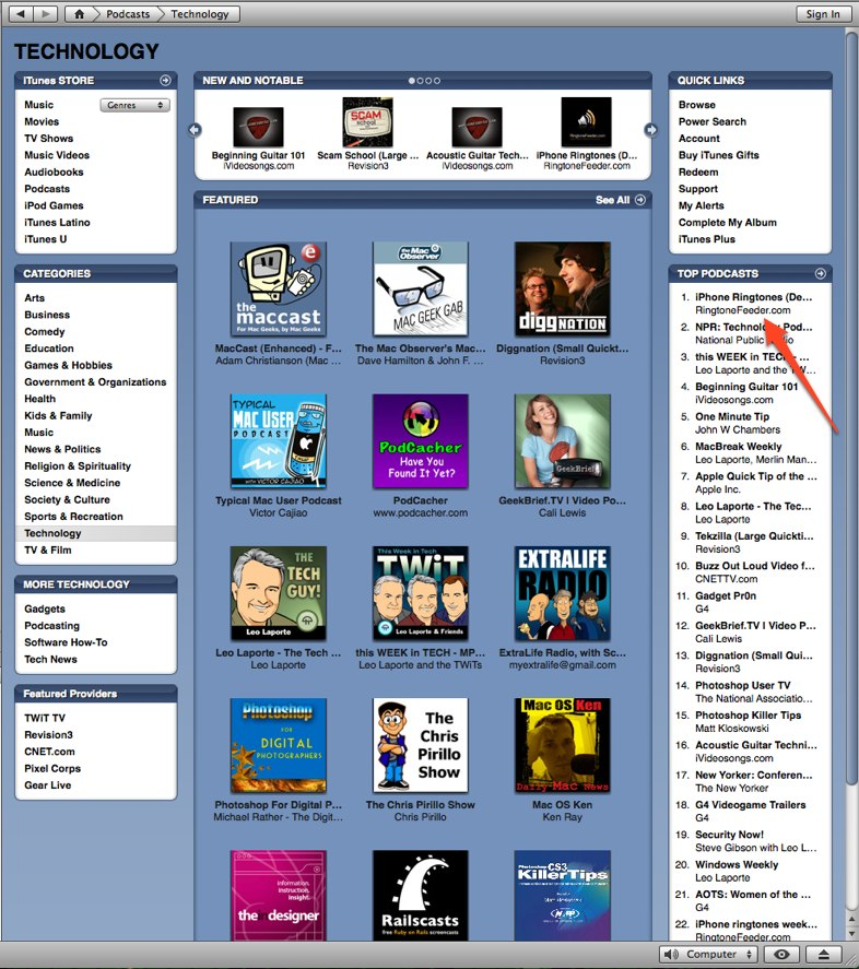 how to find tones on itunes