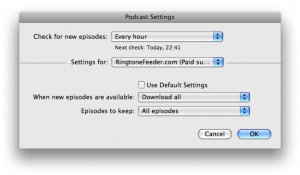 Individual setting for Podcasts in iTunes 8