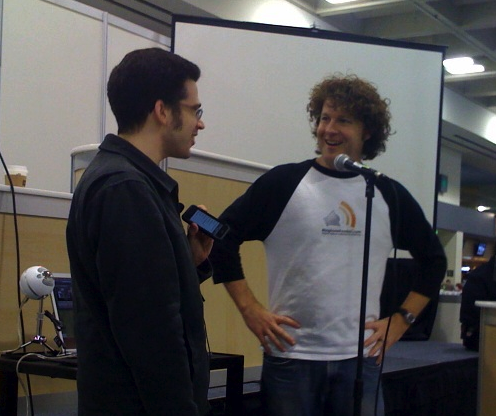 Chris Pirillo and Geoff Smith at Macworld 09